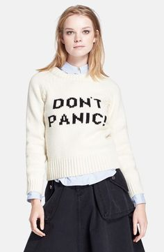 Marc by Marc Jacobs 'Don't Panic' Merino Wool Sweater