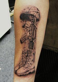 Army Tattoos, Military Tattoos, Tattoo Designs And Meanings, Tattoo Designs For Women, Forearm Tattoos, Sleeve Tattoos, Helmet Tattoo, War Tattoo, Norse Tattoo