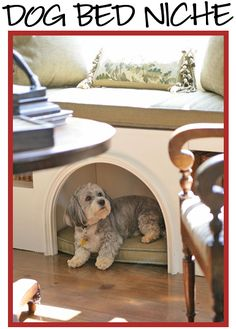 Love this dog house underneath a built in bench or window seat!  Penny would love this.  http://www.interiordesignhound.com/2011/07/07/built-in-dog-beds-window-seats-banquettes-kitchen-cabinets/