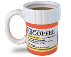 Prescription coffee mug and drink cooler #design