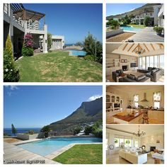 This home from our Signature Property Collection is located in gorgeous Llandudno, Cape Town! Spacious, fabulous location and incredible sea views, what more could you need? Beautiful Homes, Most Beautiful, 5 Bedroom House, Cape Town, The Incredibles, Sea, Mansions, Luxury, House Styles