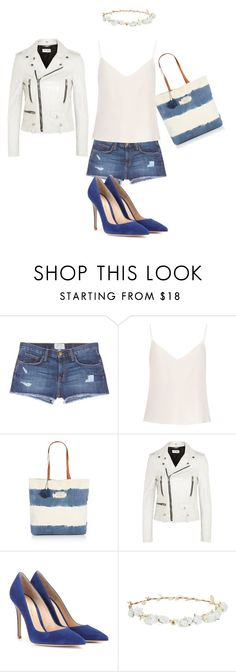"""Untitled #224"" by miaafrodite ❤ liked on Polyvore featuring beauty, Current/Elliott, Raey, Seafolly, Yves Saint Laurent, Gianvito Rossi and Robert Rose"