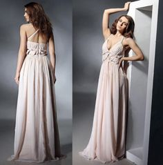 cream gown Cream Dresses, Bridesmaid Dresses, Wedding Dresses, Dress Outfits, Backless, Gowns, Formal Dresses, Clothes, Fashion