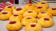 jam and coconut drops
