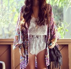 Boho style. The jacket, not the nearly naked look beneath. That should be called porno not boho.