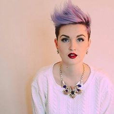 Voor vrouwen met lef!  Prachtige kapsels met een paarse kleur, durf jij het aan?