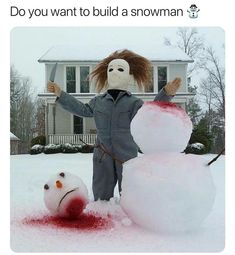 Crazy and Hilarious Winter and Snowmen Meme's.me ALL winter in the state of CT! Halloween Film, Happy Halloween, Halloween Quotes, Spirit Halloween, Halloween Stuff, Scary Halloween, Halloween Ideas, Comic Cat, Snow Sculptures