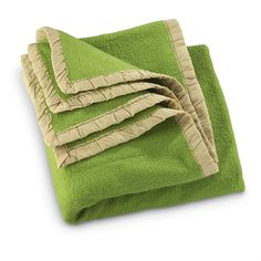 Used Czech Military Wool Blanket, Green