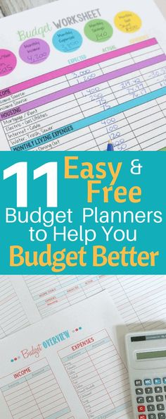 11 Easy and Free Budget Planners to Help You Budget Better Budgeting Finances, Budgeting Tips, Budgeting System, Money Saving Challenge, Saving Money, Saving Tips, Planning Budget, Financial Planning, Budget Planer