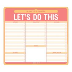 Knock Knock Let's Do This Pen-to-Paper Mousepad. A mousepad to-do notepad. Knock Knock calendar mouse pads and fun desk accessories mean business. Funny Certificates, Cool Desk Accessories, Cool Office Supplies, Home Binder, Funny Note, Home Management Binder, Brain Dump, Do It Yourself Home, Pen Holders