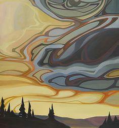 NOUVEAU 7 | E.Hawkes Painting Lessons, Art Lessons, Sky Painting, Impressionist Art, Canadian Artists, Abstract Landscape, Illustrators, Folk Art, Art Projects