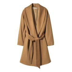 Pattern Type: Solid Clothing Length: Long Sleeve Length: Full Closure Type: Belt Material Composition: 95% Polyester, 5% Viscose Collar: Turn-down Collar Sleeve Style: Regular Color: Camel