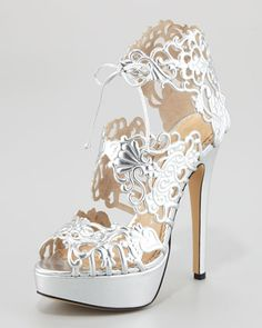 Charlotte Olympia Belinda Lace Bootie Sandal    Click to find them up to ladies size 12