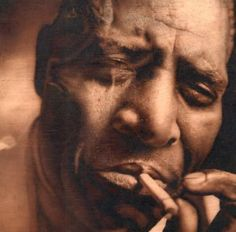 """Howlin' Wolf (June 10, 1910 - January 10, 1976) was born Chester Arthur Burnett in rural Mississippi where he became one of the leading Delta blues singers. He recorded in Memphis and Chicago, and many of his songs such as """"Backdoor Man"""", """"Little Red Rooster"""" and """"Smokestack Lightnin"""" were covered by rock/blues groups. Unlike many other bluesmen, he lived frugally and was financially secure. In his 40's he returned to school, earning his GED and taking business courses. #TodayInBlackHistory"""
