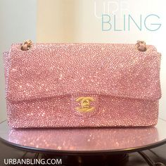 Urban Bling Customized Light Rose Strassed Chanel by UrbanBling