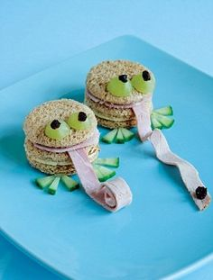#foodart #Sandwich monstertjes
