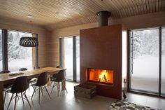 JOARC I ARCHITECTS • Holiday Villas • Mökki, takka, Lapland chalet, modern cabin interior
