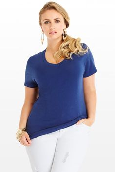 Plus Size The Perfect V-Neck Tee | Fashion To Figure