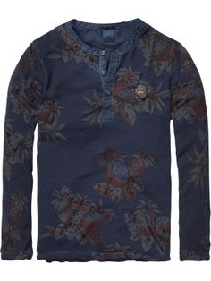 Scotch /& Soda Long Sleeve Pull in Various Allover Print Femme