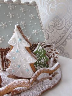 Gingerbread trees.