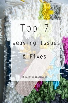 Top 7 Weaving Issues & Fixes Hello! Today's post is all about those of you who are experiencing issues when weaving. I often receive questions about these issues, so I am rounding up the most asked about issues along wit… Weaving Wall Hanging, Weaving Art, Weaving Patterns, Tapestry Weaving, Loom Weaving, Hand Weaving, Wall Hangings, Weaving Textiles, Stitch Patterns
