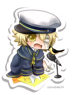 Plus he is a boy with blonde=ish hair,and can sing in English so we thought to make Oliver Len's competition!