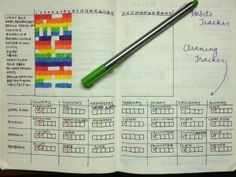 How to Start a Bullet Journal: Habits and Cleaning Tracker