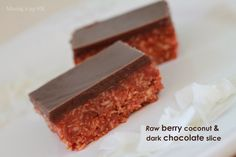 Mixing it up in HK: Raw berry coconut & dark chocolate slice