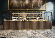 rgastudio creates caffe fernanda to complement artwork in milan's pinacoteca di brera