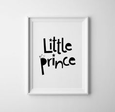 Little prince art for baby nursery. Print and by BrownFoxPrints