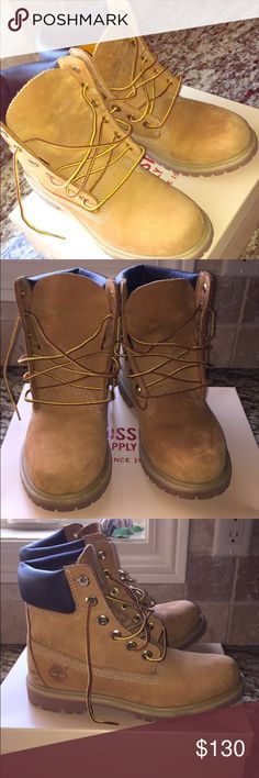 Timberlands women's size 7.5 Great condition worn twice just too tight on my foot Timberland Shoes Combat & Moto Boots