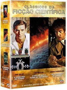 DVD Coleção Clássicos da Ficção Científica - 3 Discos