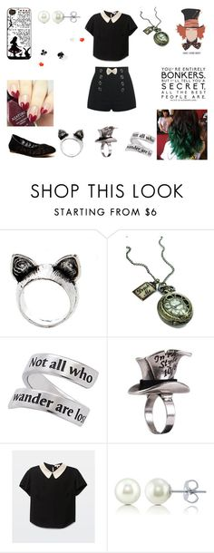 """Alice in Wonderland"" by bethie3313 ❤ liked on Polyvore featuring Natures Jewelry, Disney Couture, BERRICLE and Lucky Brand"