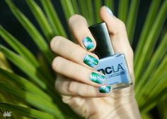 blue + palm leaves || nails