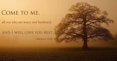 Need rest? Jesus offers it freely to you.