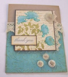 Love this elegant, vintage looking handmade card!