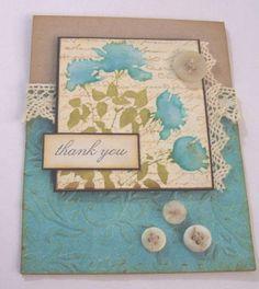 Love this elegant, vintage looking handmade card!