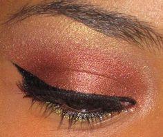 MAC Antiqued Eye Shadow (on the eyelid)