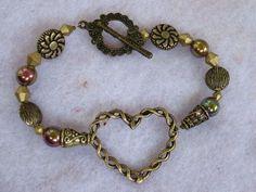 Burnished Gold Celtic Knot Heart Bracelet http://cgi.ebay.com/ws/eBayISAPI.dll?ViewItem=160962305043