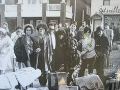 Hitsville: Mary Wilson and Diana Ross, Berry Gordy, Roz Ashford of the Vandellas, Smokey Robinson, ?, Florence Ballard and ? Gladys Horton of (The Marvelettes) is sitting in front. Diana Ross Supremes, Berry Gordy, Mary Wilson, Detroit History, Smokey Robinson, Joyful Noise, Motown, Greatest Hits, The Borrowers