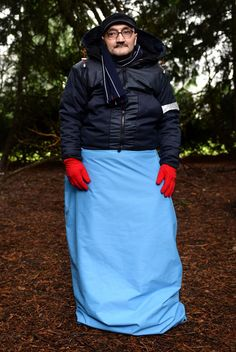 Fashion designer Bas Timmer has designed a jacket for the homeless that turns into a waterproof sleeping bag.