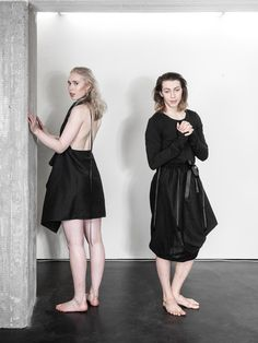 unisex fashion by LAURIJARVINENSTUDIO Eco Friendly Fashion, Unisex Fashion, Black Fabric, That Look, Short Sleeve Dresses, Unique, Collection, Style, Swag