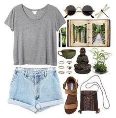 """""""DAY WEAR - SPIRITUAL TRAVELS"""" by pretty-basic ❤ liked on Polyvore featuring NDI, Monki, Steve Madden, Forever 21, Noir Cosmetics, prettybasic and TGIF"""