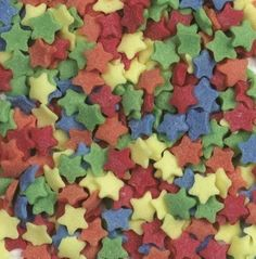 Star Sugar Sprinkles Primary Colours for cake or cupcake decorations Sprinkle Cupcakes, Valentine Day Cupcakes, Sugar Sprinkles, Wilton Cakes, Cake Icing, Gluten Free Cookies, Cupcake Decorations, Gingerbread Cookies, Gourmet Recipes
