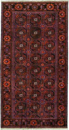 4' 4 x 8' 2 Red Shiraz Persian Rugs