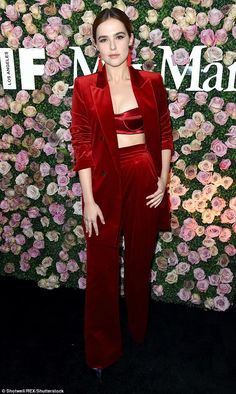 Knockout:Complementing the bra-lette and high-waisted bottoms was a red blazer with the sleeves rolled up nearly to the elbow, as well as a pair of red tassel earrings