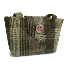 Harris Tweed 15 OFF Sale  Purse  Brown Check  by peskycatdesigns