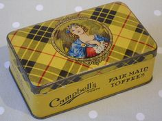 c1940s Vintage Campbell's Fair Maid Toffees by Butterbeas