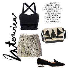 """""""B & W"""" by vbstyle88 ❤ liked on Polyvore featuring MSGM, Topshop, Nicholas Kirkwood and Folio"""