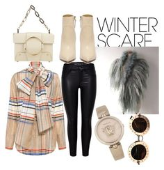 """""""Untitled #55"""" by mila-littlejohn ❤ liked on Polyvore featuring SUNO New York, Yuzefi, Versace, Gucci and winterscarf"""